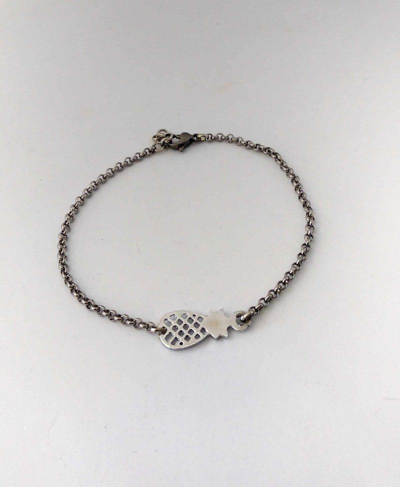 Bracelet acier inoxydable et ananas