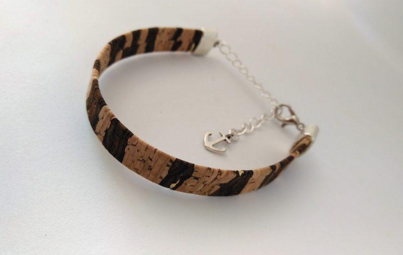 Bracelet en liège bicouleurs