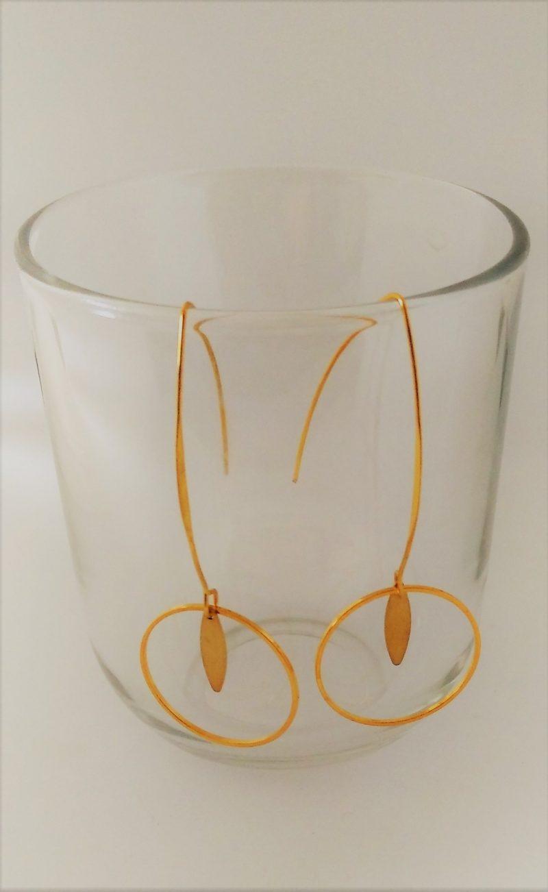 Boucles d'oreilles créoles dorées - estampes